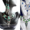12 Peruvian Stone & Murano Necklace earrings