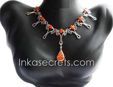 50 Peruvian Alpaca Silver Necklaces w/Stone