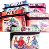 100 Peruvian leather coin purse, souvenirs