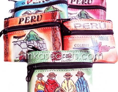 100 Peruvian leather coin purse, souvenirs