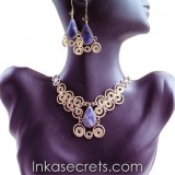 12 Sets of bronze necklace earrings with Stone