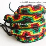 120 Jamaica Rasta Friendship Bracelets