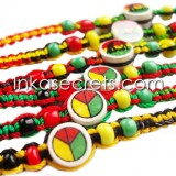 150 Rasta Friendship Bracelets w/Ceramic