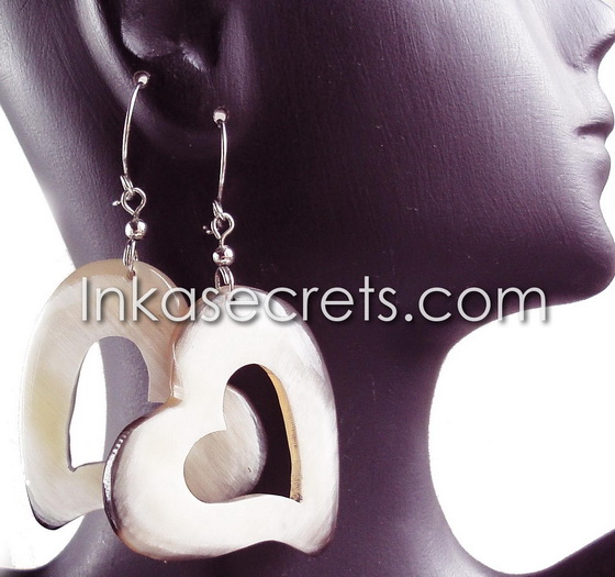 08 Peruvian Bull Horn Earrings