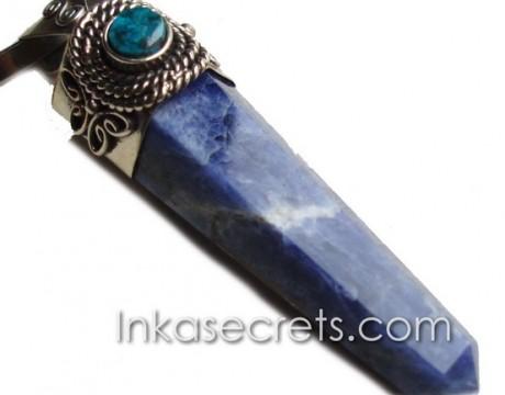 01 Sodalite Semi-Precious Stone Pendulum Pendant