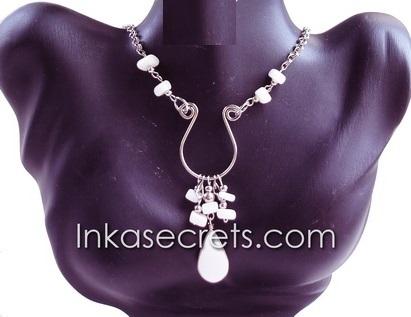 200 Peruvian Alpaca Silver Necklaces w/Stone