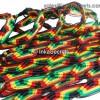 500 Jamaica Rasta Friendship Bracelets