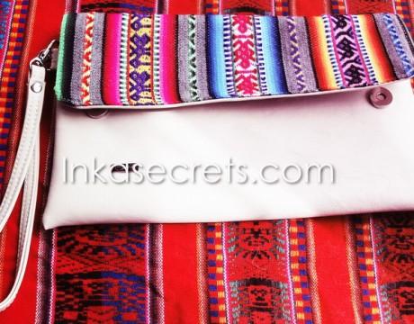 04 Peruvian Ethnic eco leather clutch