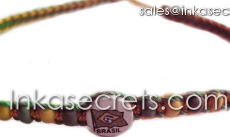50 Brasil flag friendship bracelets w/ceramic