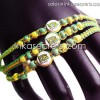250 Brasil flag friendship bracelets w/ceramic