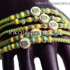 2000 Brasil flag friendship bracelets w/ceramic