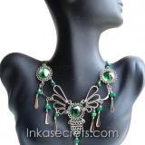 150 Peruvian Alpaca Silver Necklace w/Murano