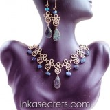 25 Sets of bronze necklace earrings with Stone