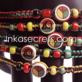 300 Rasta Friendship Bracelets w/Ceramic