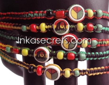 300 Rasta Friendship Bracelets w/Ceramic