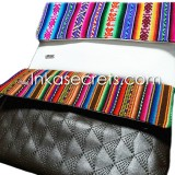 20 Peruvian Ethnic eco leather clutch