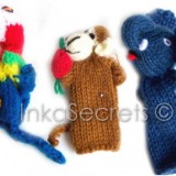 100 Finger Puppets Handknitted