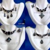 100 Ethnic Bulls Horn Earrings Necklace Sets