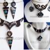 200 Bull's Horn Earrings Necklace Sets