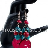 200 Tagua earrings with Flower designs