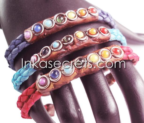 10 Murano Glass Leather Bracelets