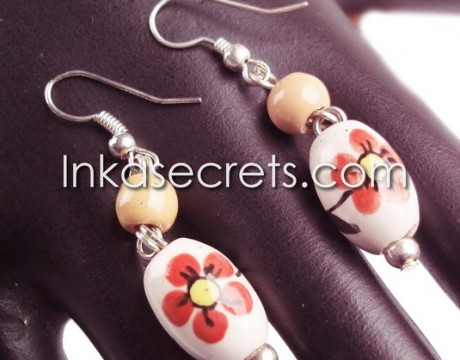 10 Pairs of Ceramic Beads Earrings