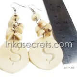 300 Tagua earrings with heart designs