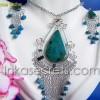 100 Sets Medallions Earrings w/ Stones