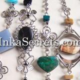 10 Alpaca Silver Bracelets with Stone
