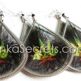 10 Rasta Thread Stamped Earrings