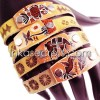 08 Peruvian Leather Sheepskin Bracelets