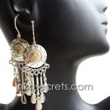 05 Gold with Silver Plated Earrings, Design Inca