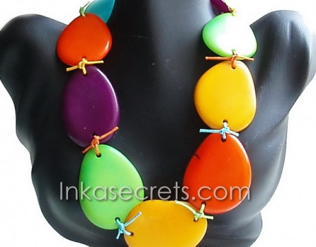 15 Sliced Tagua Beaded Necklaces(NKTPJ05)