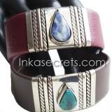 10 Semi-Precious Stone cuff bracelets (cb01)