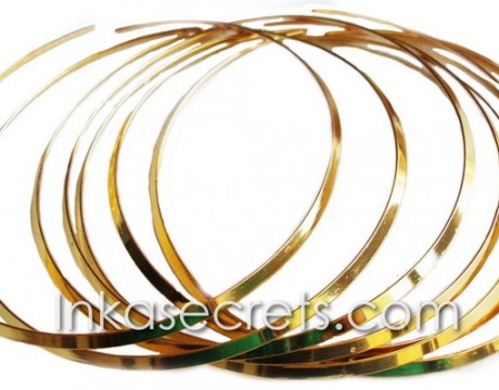 04 Gold plated Omega choker necklaces
