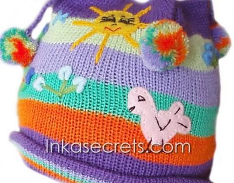 15 Peruvian Children's arpillera / hat (NCAH)