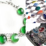 40 Murano Glass & Peruvian Stone Bracelets