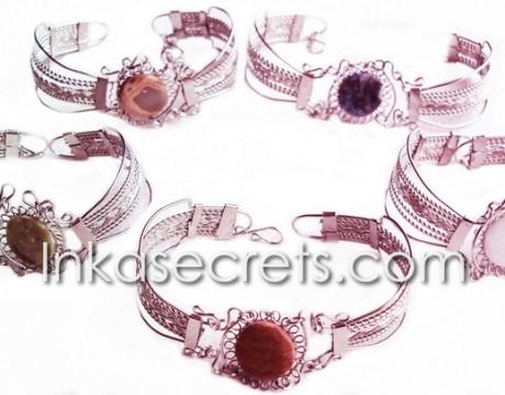05 Beautiful handmade Peruvian Stone Bracelet