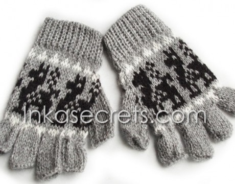 100 Alpaca Peruvian Fingerless Gloves