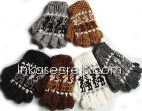 300 Alpaca Peruvian Fingerless Gloves
