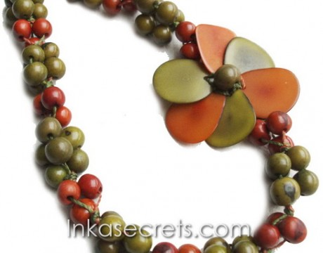 10 Tagua beaded necklaces