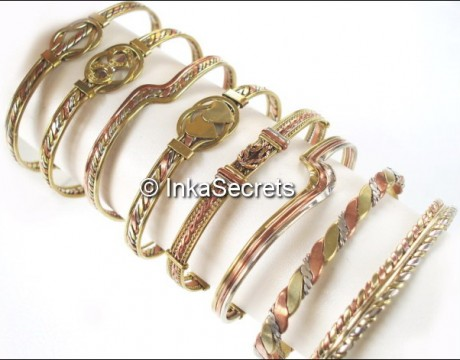 Lot 20 Peruvian 03 Metals Bracelets