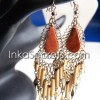 10 Bamboo Design Peruvian Stone Earrings