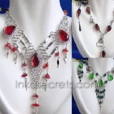200 Set alpaca necklace & earrings w/Murano
