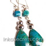50 Alpaca earrings with semi-precious stone