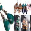 200 Alpaca earrings with semi-precious stone