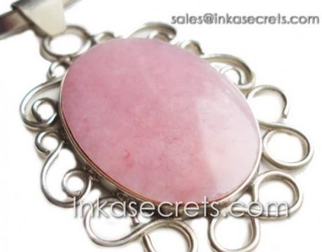 01 Pink Opal Semi-Precious Stone Pendant