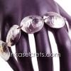 01 Vintage Peru Sol De Oro Silver Coin Link Bracelet