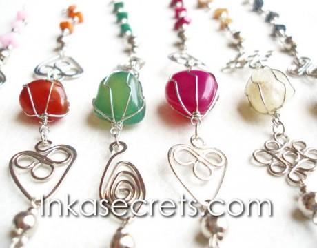 05 Alpaca Silver Bracelets with Agate Stone