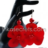 10 Flower Tagua earrings